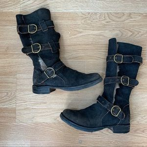 Fiorentini + Baker Fur Lined Buckle Boots Size 36